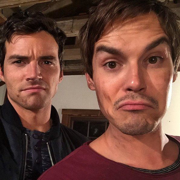Pin for Later: 85 Photos of the Pretty Little Liars Boys That Will Make You Wish You Lived in Rosewood Ian Harding and Tyler Blackburn