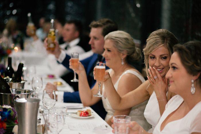 Wedding toast captured by Sarah Godenzi @ Yarra Ranges Estate