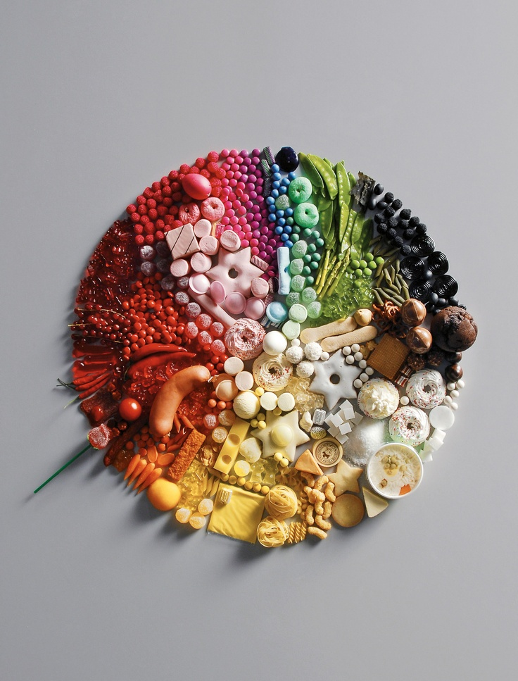 La scala cromatica del cibo #Food #design