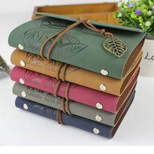 2015 material escolar diário do Vintage notebook couro em branco livro A6 / A7 caderno espiral diário de viagem agenda papelaria coreano(China (Mainland))