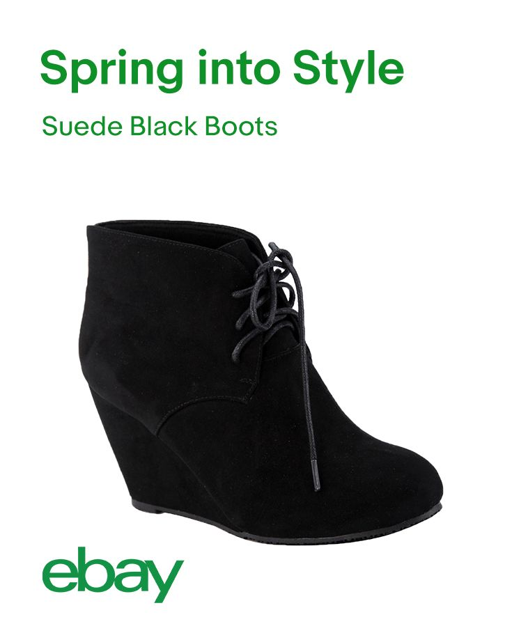 Suede black ankle boots perfectly toe the line between dressed up and casual. Sleek and a little edgy, step up your style game with a pair.