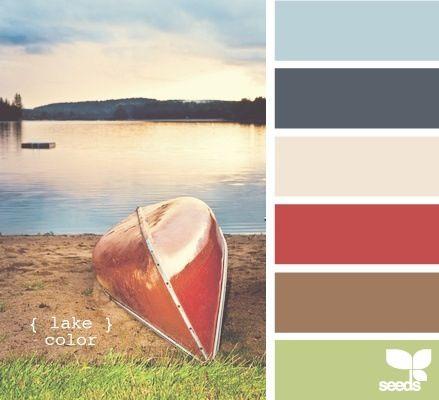 Lake color pallet