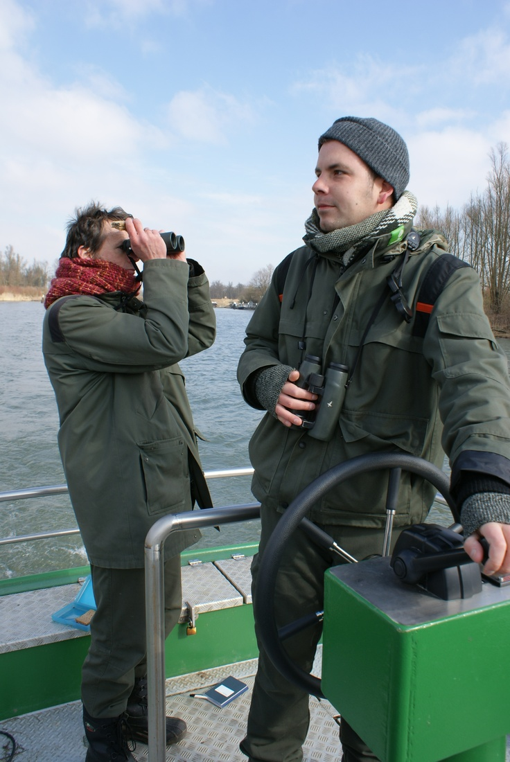 Boswachter Thomas vaart bijna dagelijks in De Biesbosch.