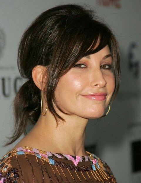 Gina Gershon Hairstyles: Loose Ponytail