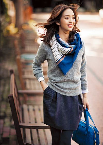Lovely scarf work outfit