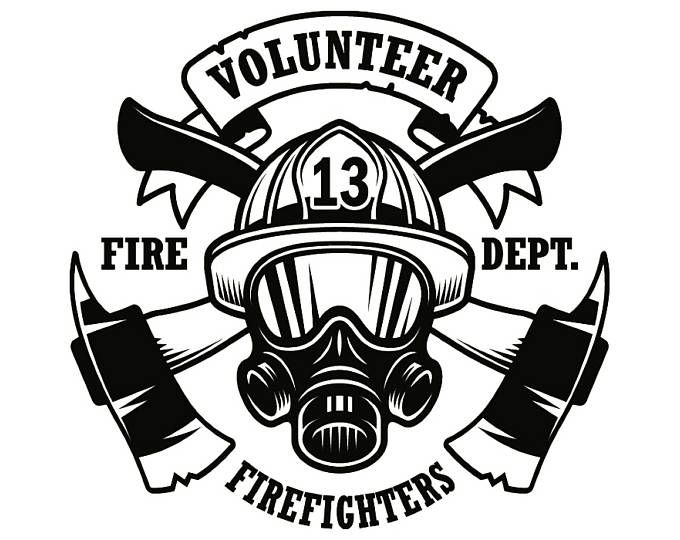 "INTERIOR FIREFIGHTER Decal FIRE DEPARTMENT  /""I/"" INTERIOR HELMET DECAL"