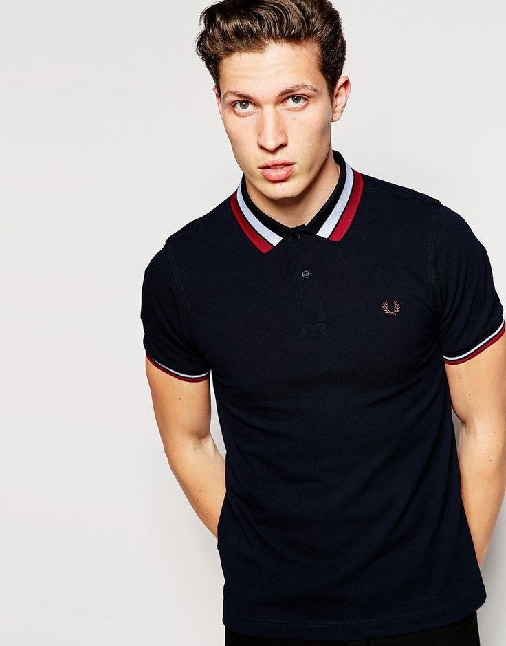 Fred Perry Polo Shirt with Bold Tipping Slim Fit