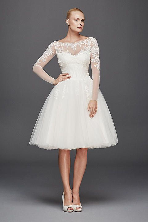 Wedding Dresses & Bridal Gowns | David's Bridal http://www.davidsbridal.com/Product_zac-posen-long-sleeved-short-wedding-dress-zp341642_all-wedding-dresses