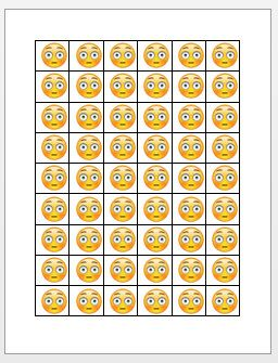 DIY. Instant Download. Flushed Emoji Printable by IconicThought
