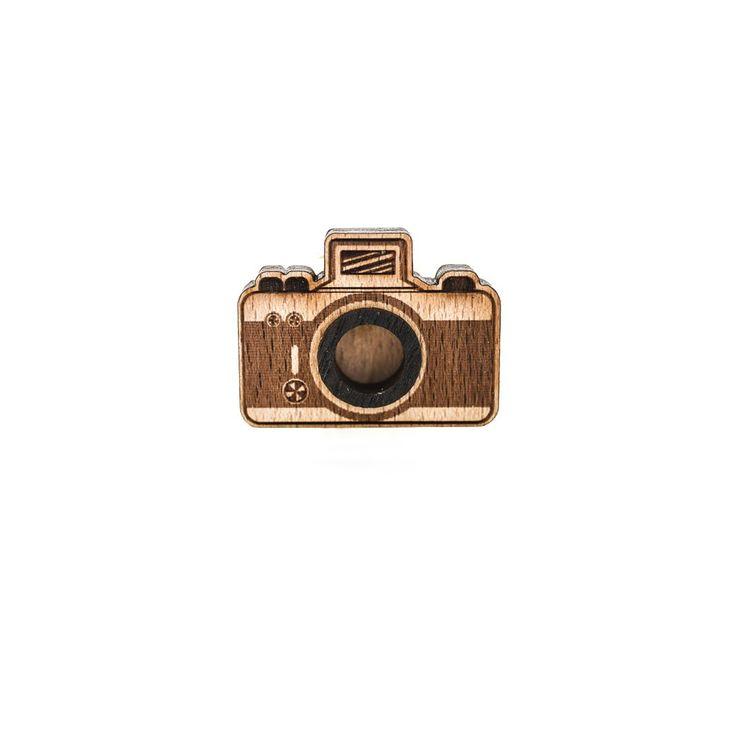Деревянный значок Камера #wafwaf #wafwafgoods