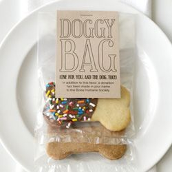I'm seriously considering substituting donations in as a wedding favor. This is a great idea if we make a donation to the Humane Society.