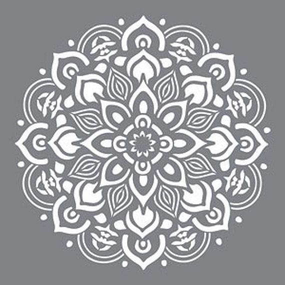 "Americana Decor-Stencils-Mandala-12"" X 12""-Decoart"