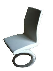 """The Astro dining chair has a unique cantilever design combined with a unique cylindrical stainless steel base which makes this a true contemporary gem.  Dimensions: 20"""" x 17"""" x 36""""H"""