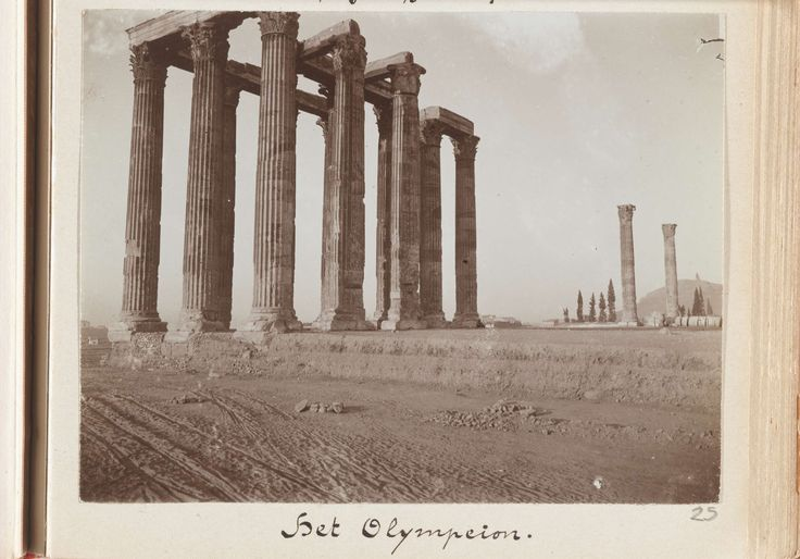 L. Heldring | Het Olympeion in Athene, Griekenland, L. Heldring, 1898 |