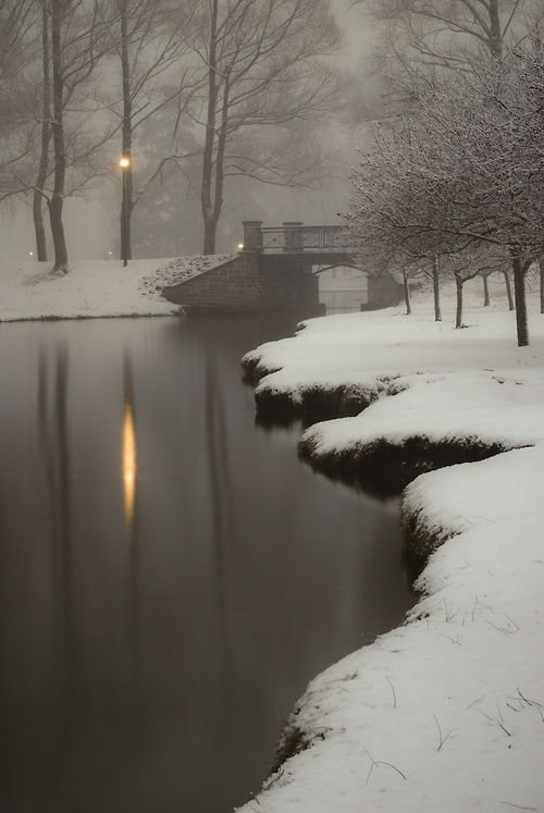 I can smell the air, feel the cold damp on my face, hear the shush of the snow under my feet, and see the sky overhead. (RJ)