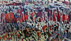"""Desert (Triptych), 2015. acrylic on canvas, 52"""" x 30"""""""