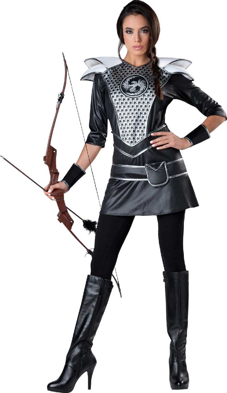 25 best warrior costumes images on pinterest adult costumes midnight huntress adult womens costume sciox Choice Image