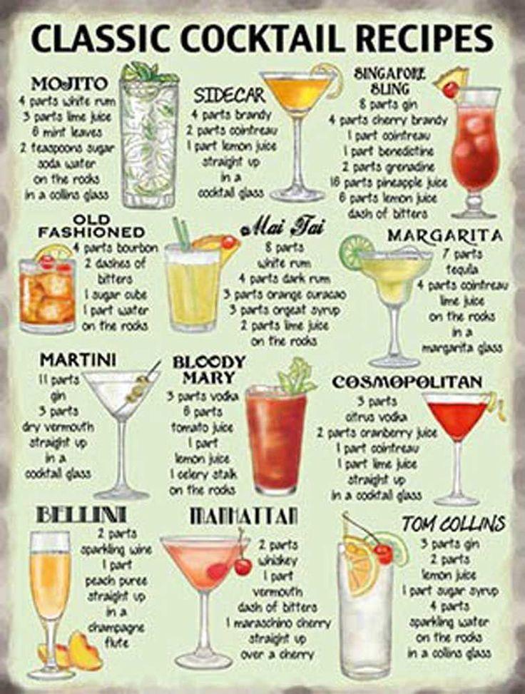 KlaГџische Cocktails
