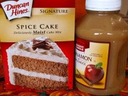 Here's what I used to make the applesauce spice cake muffins.