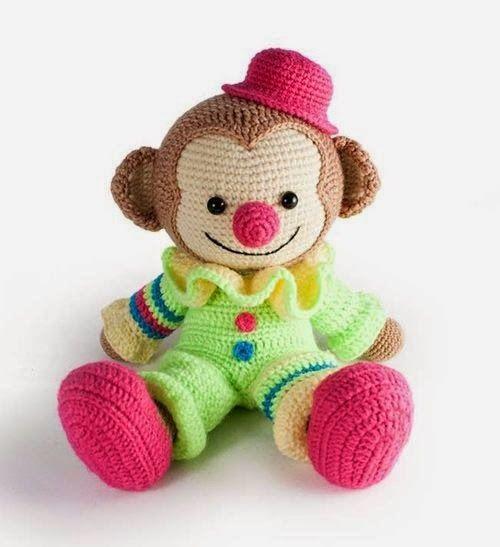 Amigurumi - Palhacinho Macaco.