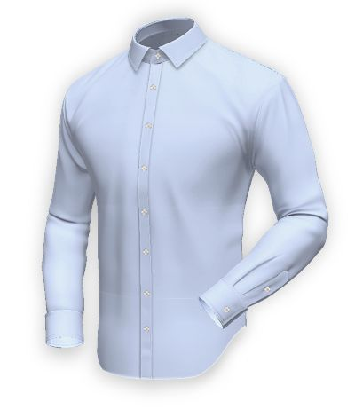 Blue easy care shirt in 100% cotton: http://www.tailor4less.com/en-us/collections/custom-dress-shirts/blue-shirt-collection/garen-blue-easy-care-shirt-in-100-cotton