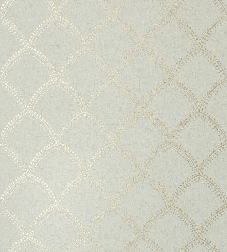 Burmese - Metallic/Aqua wallpaper, from the Watermark collection by Anna French