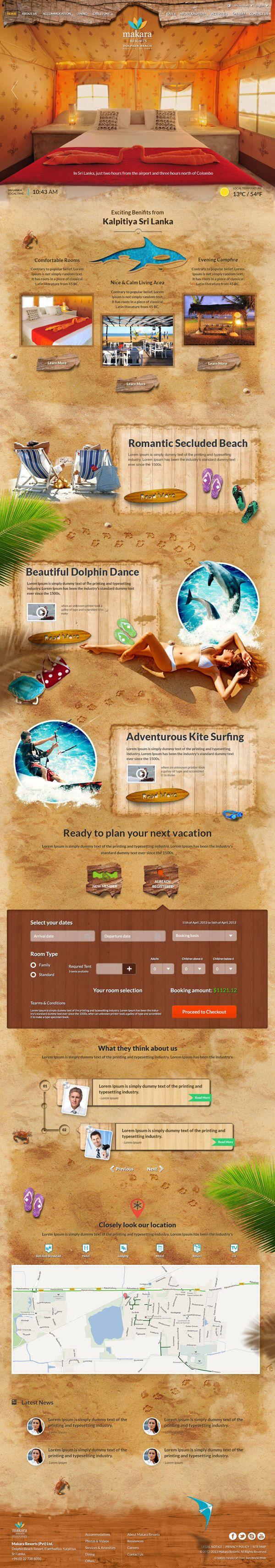Makara Resorts - Kalpitiya (Revamp) by Yashi , via Behance