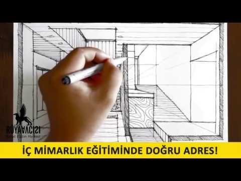 İc mimarlik cizim teknikleri izle guzel sanatlara hazirlik resim kursu ruya avcisi - YouTube