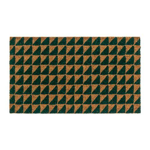 HINDEVAD Door mat Green/natural 40x70 cm  - IKEA