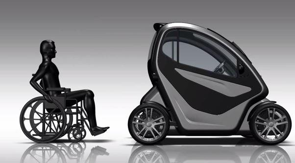 equal c est une voiture qui se conduit partir de son fauteuil roulant fils. Black Bedroom Furniture Sets. Home Design Ideas