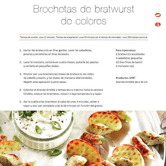 ¡Receta para empezar bien la semana!Brochetas de bratwurst de colores