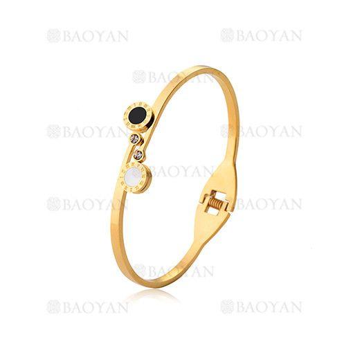 pulseras de moda con numero romano de dorado en acero inoxidable-SSBTG804639