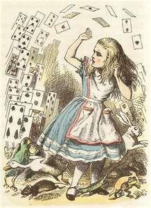 Flying Cards Alice in Wonderland Cross Stitch by lisalskinner