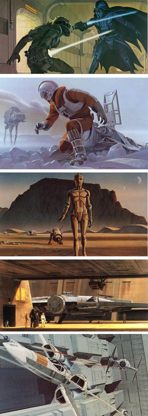It's a sad day for the concept art world. Ralph McQuarrie, the artist who created concept designs for the first Star Wars trilogy, the original Battlestar Galactica television show, Close Encounters of the Third Kind, E.T., and other science fiction classics, has passed away at age 82..