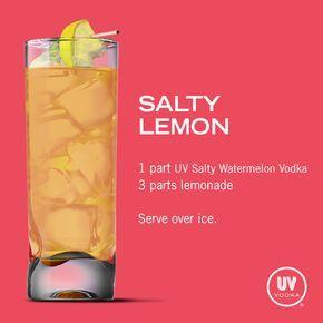 UV Vodka Recipe: Salty Lemon yummy