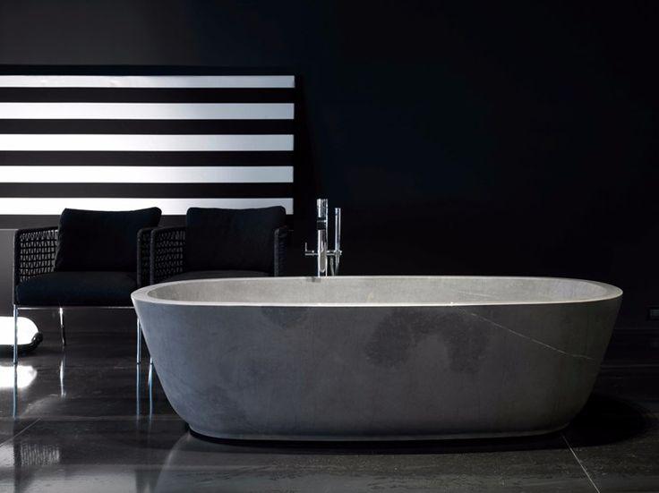 BAÌA Vasca da bagno in pietra naturale by Antonio Lupi Design® design Carlo Colombo