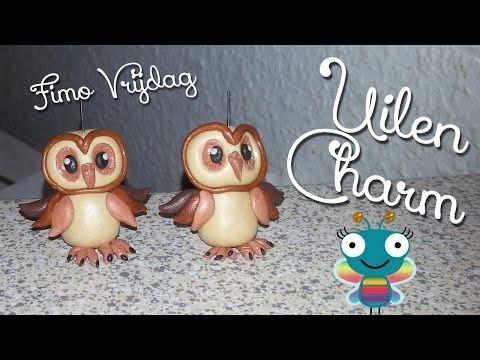 ▶ Fimo Vrijdag #1, Diy Uilen Charm Schattige Uil Zelf Kleien Van Polymeer Klei - YouTube