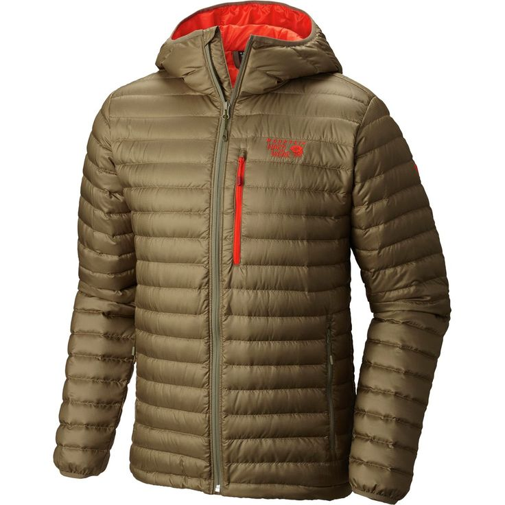 Mountain Hardwear Nitrous Hooded Down Jacket Stone Green XL