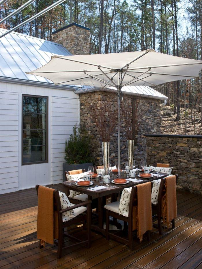 Die besten 25+ Sonnenschirme für terrassen Ideen auf Pinterest - sonnenschirm balkon terrasse