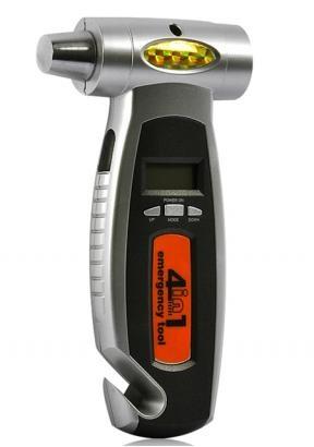 4-in-1 Reifendruckmesser Nothammer Flashlight Gurtmesser Auto Notfallwerkzeug aus DE