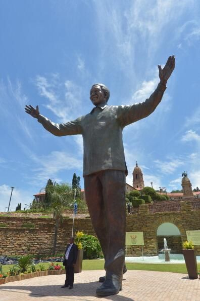 Mandela memorial statue, Union Buildings, Pretoria, South Africa.