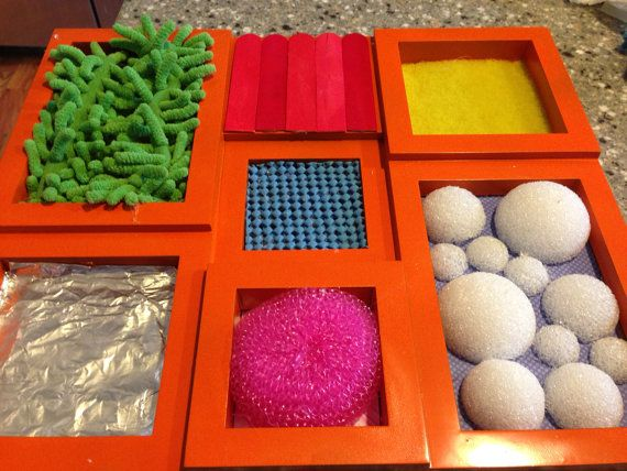 Handmade touch and feel sensory board by TheburrowSI on Etsy