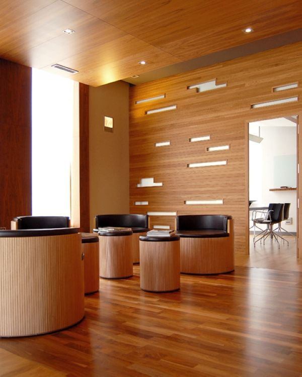 116 best images about wood look flooring design in offices - Interior design wood walls ...