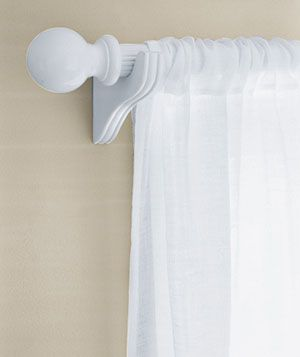 Painted curtain rod. This article has some great tips on how to paint items in your house.