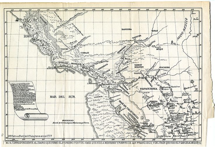 Here we have a map of northern Mexico in 1777 so by northern we – Map Northern Mexico