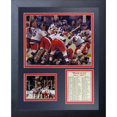 Legends Never Die 1980 USA Hockey Champions Framed Memorabilia