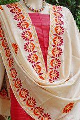 Exclusive Kutch Work Tussar Silk dupatta
