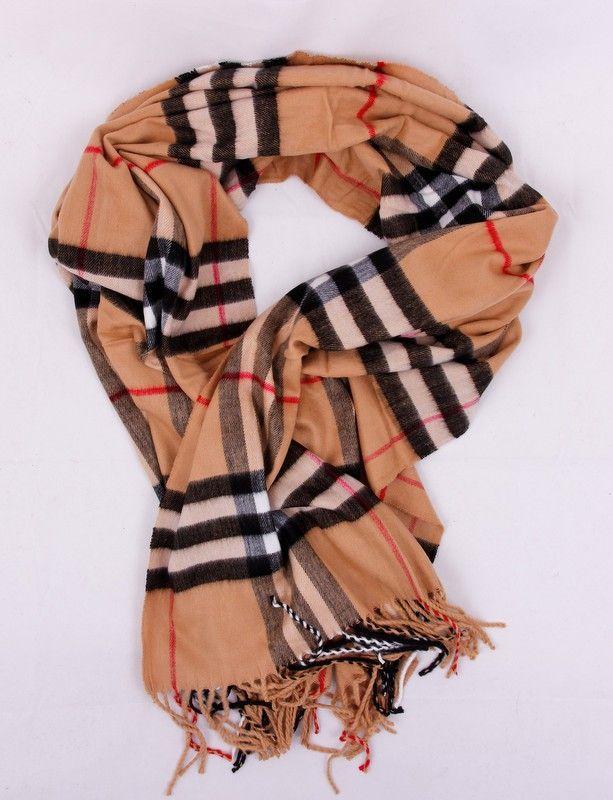Теплый кашемировый шарфик Burberry. На осень, зиму, весну. Темно-бежевого цвета