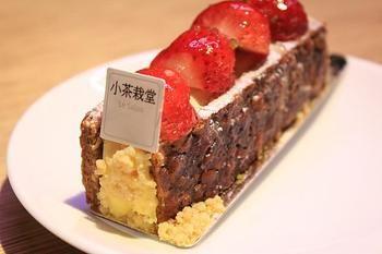 ティーサロンも併設していて、こんなスイーツも食べられるんです! 洋菓子の甘さとさっぱりした台湾茶が意外とマッチしますよ。