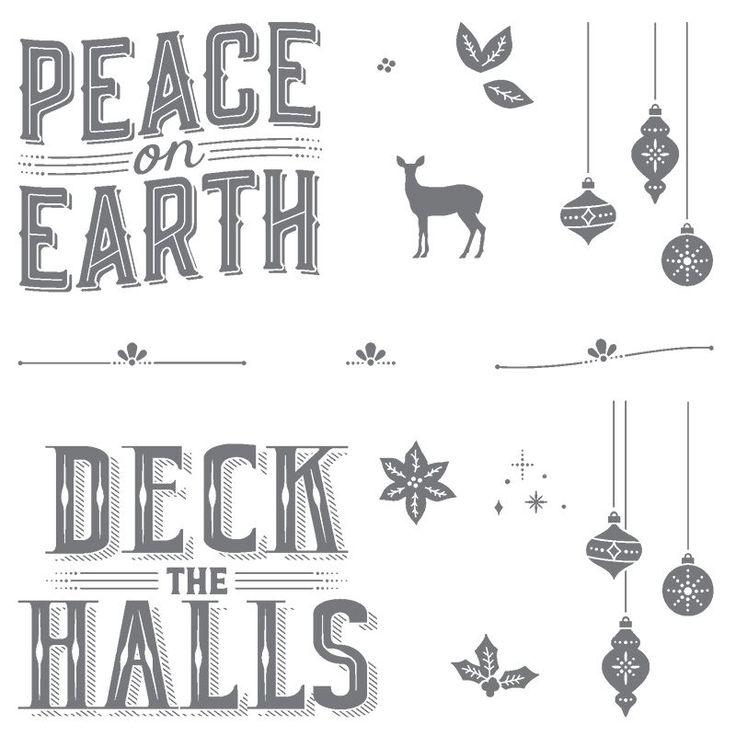 Carols of Christmas Clear-Mount Stamp Set by Stampin' Up!